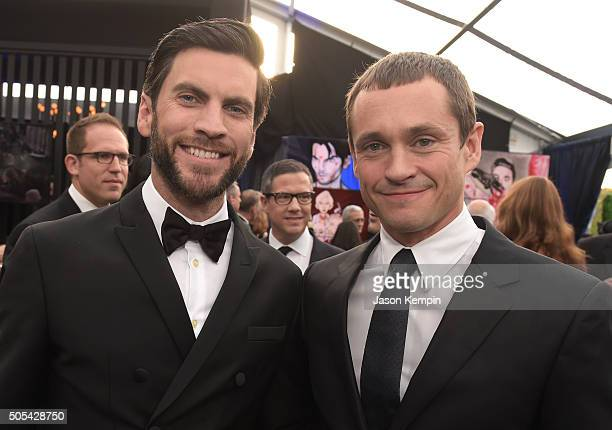 Actors Wes Bentley and Hugh Dancy attend the 21st Annual Critics' Choice Awards at Barker Hangar on January 17 2016 in Santa Monica California
