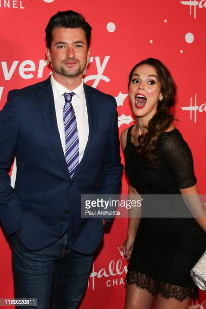 Actors Wes Brown and Erin Cahill attends Hallmark Channel's 10th Anniversary of Countdown To Christmas screening and party at 189 by Dominique Ansel...