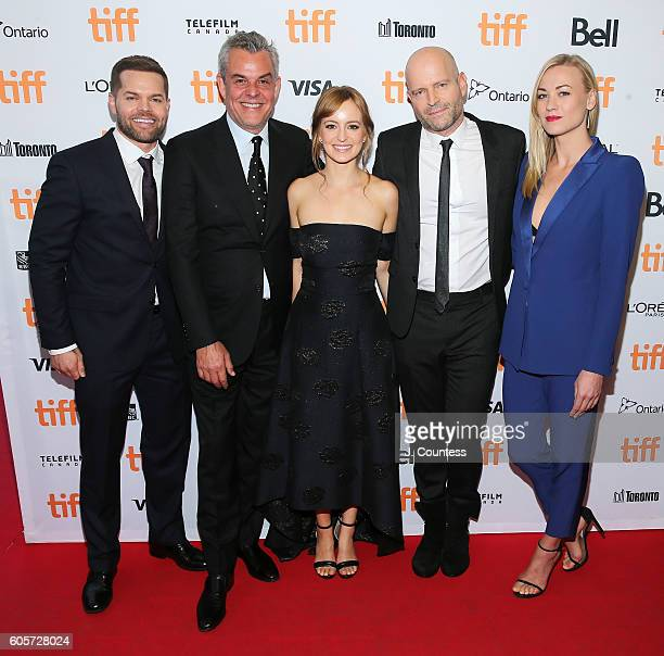 Actors Wes Chatham Danny Huston Ahna O' Reilly director Marc Forster and actress Yvonne Strahovski attend the 2016 Toronto International Film...