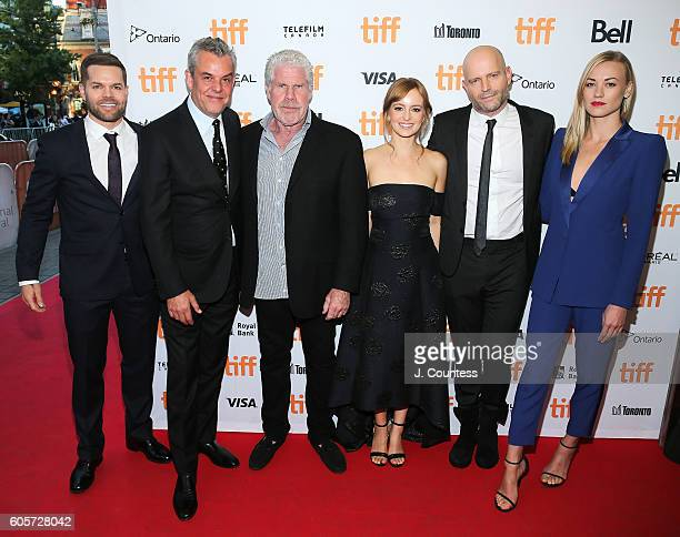 Actors Wes Chatham Danny Huston executive producer Ron Perlman actress Ahna O' Reilly director Marc Forster and actress Yvonne Strahovski attend the...