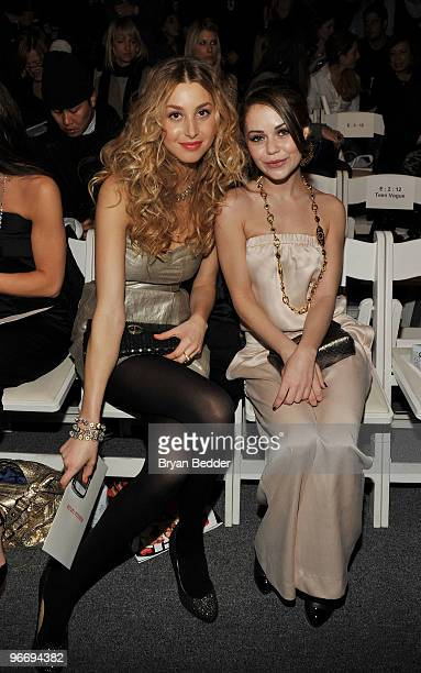 Actors Whitney Port and Alexis Dziena attend the Rebecca Taylor Fall 2010 Fashion Show during MercedesBenz Fashion Week at The Salon at Bryant Park...