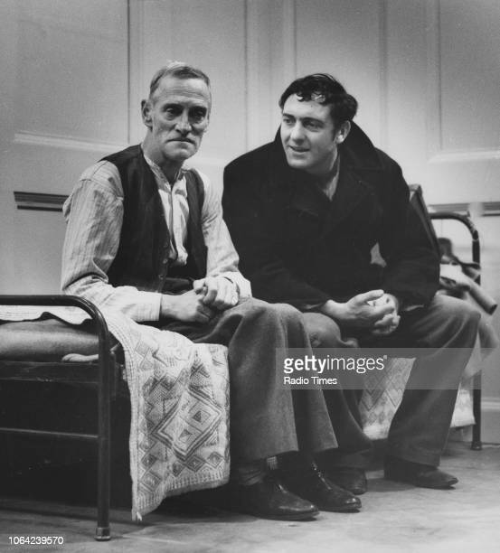 Actors Wilfrid Brambell and Harry H Corbett in a scene from episode 'Homes Fit for Heroes' of the television sitcom 'Steptoe and Son' December 12th...