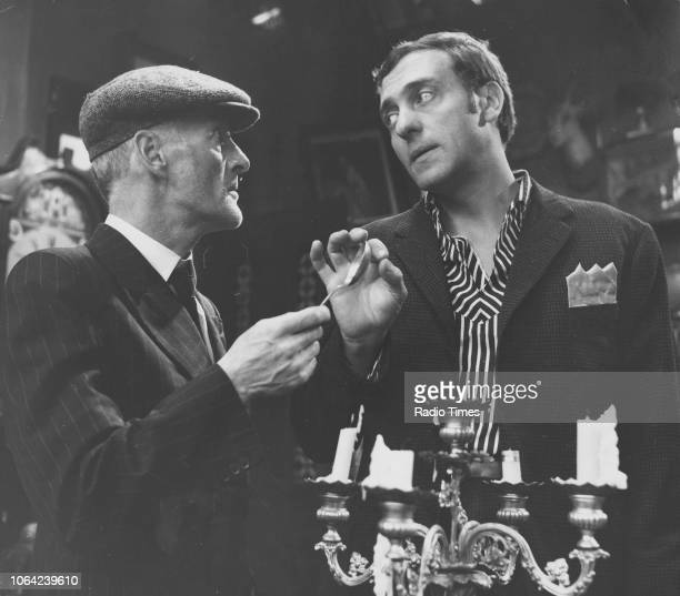 Actors Wilfrid Brambell and Harry H Corbett in a scene from episode 'The Piano' of the television sitcom 'Steptoe and Son' May 16th 1962
