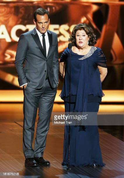 Actors Will Arnett and Margo Martindale speak onstage during the 65th Annual Primetime Emmy Awards held at Nokia Theatre LA Live on September 22 2013...