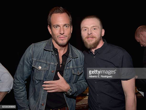 Actors Will Arnett and Simon Pegg attend the CinemaCon 2016 Gala Opening Night Event Paramount Pictures Highlights its 2016 Summer and Beyond Films...