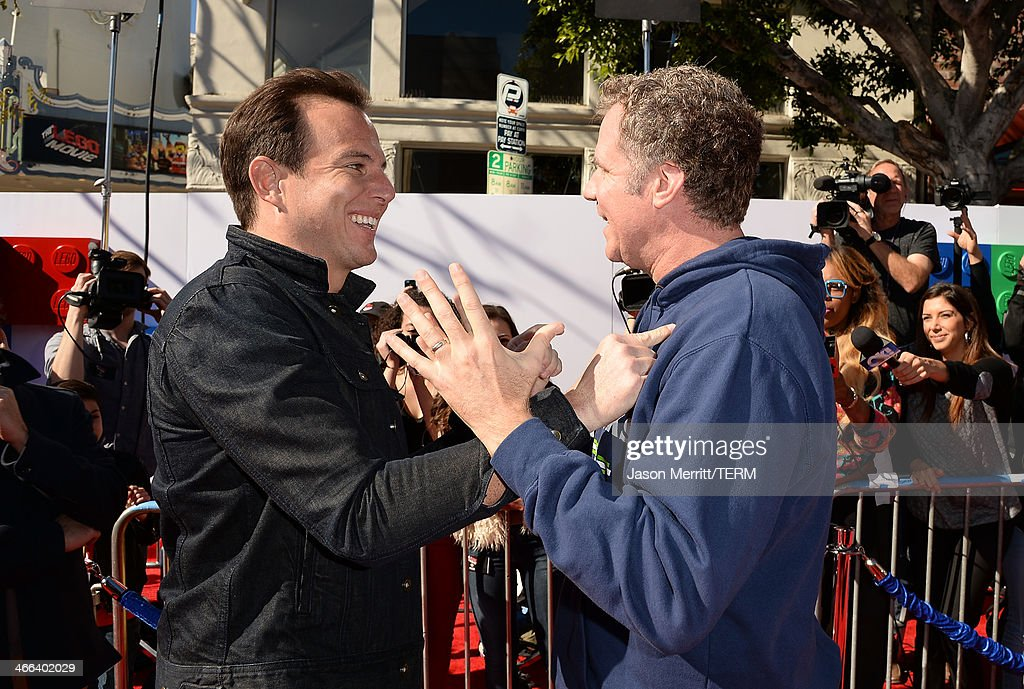 Actors Will Arnett and Will Ferrell attend the premiere of 'The LEGO Movie' at Regency Village Theatre on February 1, 2014 in Westwood, California.