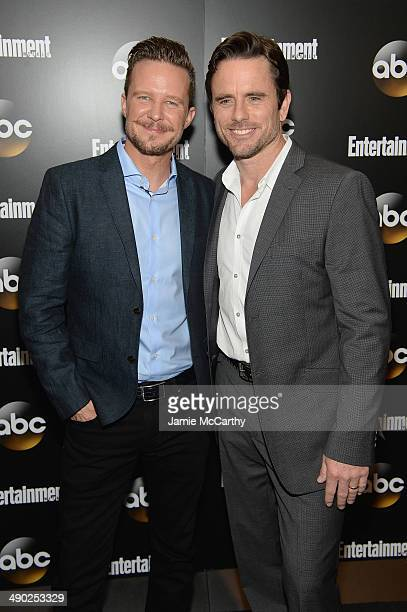 Actors Will Chase and Charles Esten attend the Entertainment Weekly ABC Upfronts Party at Toro on May 13 2014 in New York City