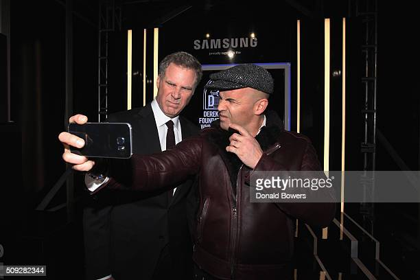 Actors Will Farrell and Billy Zane show their support for the Derek Zoolander Foundation with a Samsung Galaxy S6 edge selfie at the premiere of...