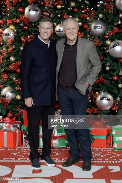 Actors Will Ferrell and John Lithgow arrive at the UK Premiere of 'Daddy's Home 2' at Vue West End on November 16 2017 in London England