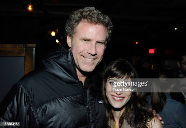 Actors Will Ferrell and Lizzy Caplan attend Sheets Energy presents BCDF Sundance Cocktail Party at Stella Artois by Ally B during the 2012 Sundance...