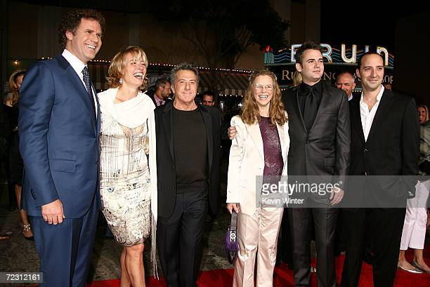 Actors Will Ferrell Emma Thompson Dustin iHoffman producer Lindsay Doran writer Zach Helm and actor Tony Hale arrive at the Sony Pictures premiere of...