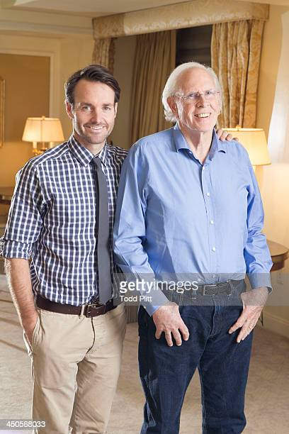Actors Will Forte and Bruce Dern are photographed for USA Today on November 5 2013 in New York City PUBLISHED IMAGE