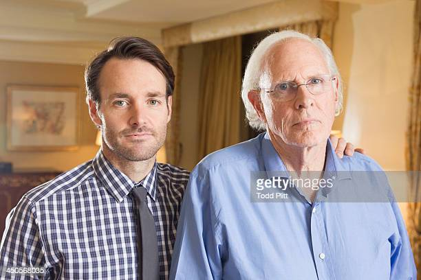 Actors Will Forte and Bruce Dern are photographed for USA Today on November 5 2013 in New York City
