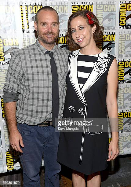 "Actors Will Forte and Kristen Schaal attend the ""The Last Man On Earth"" press line during Comic-Con International on July 23, 2016 in San Diego,..."