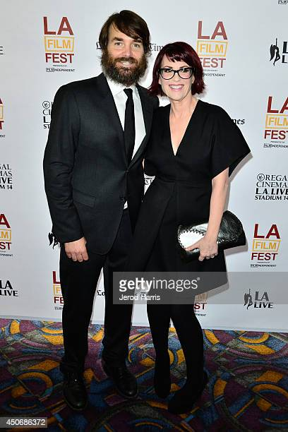 Actors Will Forte and Megan Mullally attend the premiere of 'Trouble Dolls' during the 2014 Los Angeles Film Festival at Regal Cinemas LA Live on...