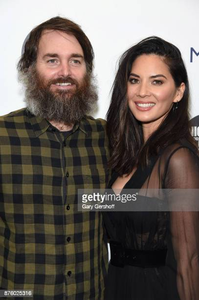 Actors Will Forte and Olivia Munn attends HBO's Night Of Too Many Stars America Unites For Autism Programs at The Theater at Madison Square Garden on...