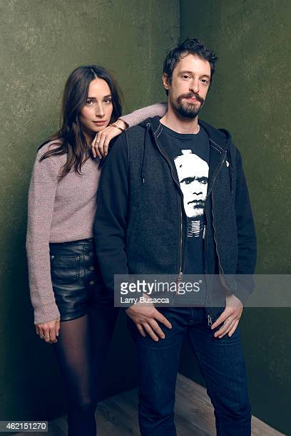 Actors Will Janowitz and Rebecca Dayan of H poss for a portrait at the Village at the Lift Presented by McDonald's McCafe during the 2015 Sundance...