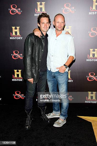 Actors Will Kemp and Andrew Howard arrive at the History Channel PreEmmy Party at Soho House on September 22 2012 in West Hollywood California