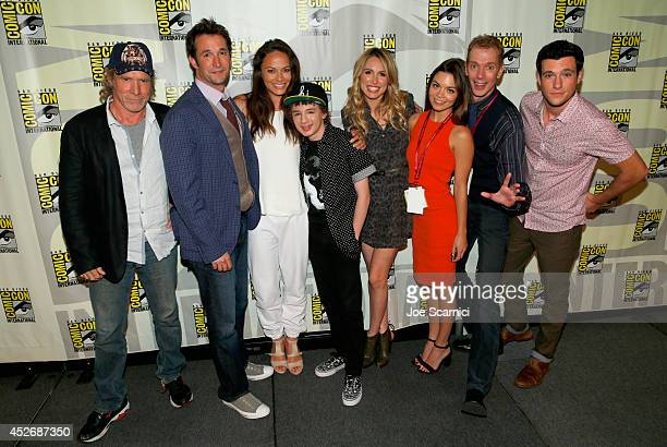 Actors Will Patton Noah Wyle Moon Bloodgood Maxim Knight Sarah Carter Scarlett Byrne Doug Jones and Drew Roy attend TNT at ComicCon International San...