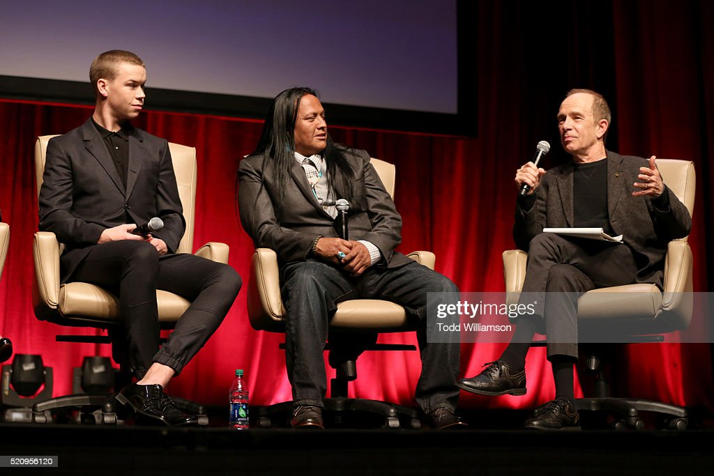 "Actors Will Poulter, Arthur Redcloud and Todd McCarthy, Chief Film Critic at The Hollywood Reporter attend CinemaCon and 20th Century Fox Present ""From Passion to the Big Screen: An Afternoon with the Creative Team Behind 'The Revenant'"" at Caesars Palace during CinemaCon, the official convention of the National Association of Theatre Owners, on April 13, 2016 in Las Vegas, Nevada."