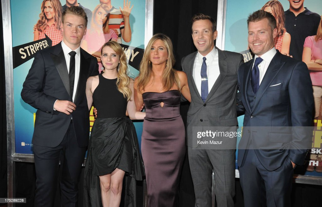 Actors Will Poulter, Emma Roberts, Jennifer Aniston, Jason Sudeikis and Rawson Marshall Thurber attend the 'We're The Millers' New York Premiere at Ziegfeld Theater on August 1, 2013 in New York City.