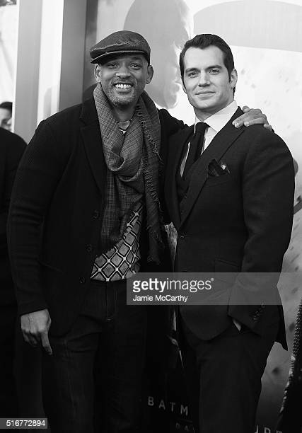 "Actors Will Smith and Henry Cavill attend the ""Batman V Superman: Dawn Of Justice"" New York Premiere at Radio City Music Hall on March 20, 2016 in..."