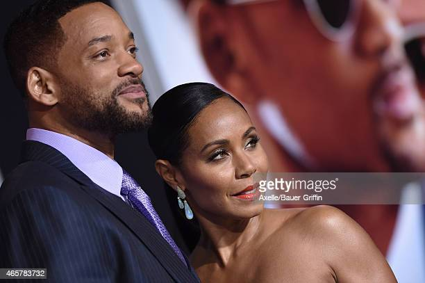 Actors Will Smith and Jada Pinkett Smith arrive at the Los Angeles World Premiere of Warner Bros Pictures 'Focus' at TCL Chinese Theatre on February...