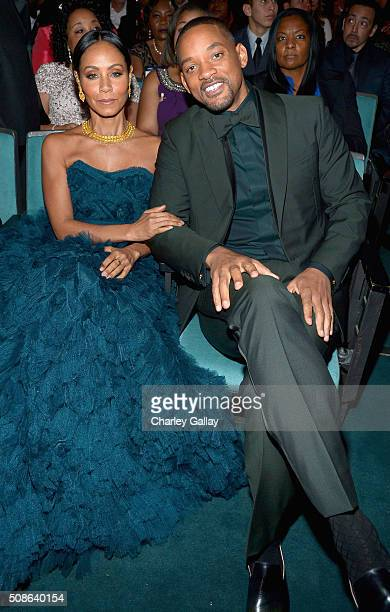 Actors Will Smith and Jada Pinkett Smith attend the 47th NAACP Image Awards presented by TV One at Pasadena Civic Auditorium on February 5 2016 in...