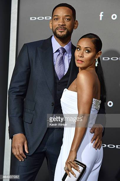 Actors Will Smith and Jada Pinkett Smith attend the premiere of Warner Bros Pictures' 'Focus' at TCL Chinese Theatre on February 24 2015 in Hollywood...
