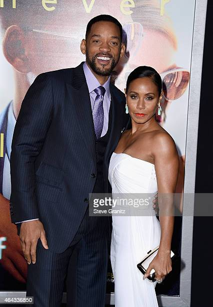 """Actors Will Smith and Jada Pinkett Smith attend the Warner Bros. Pictures' """"Focus"""" premiere at TCL Chinese Theatre on February 24, 2015 in Hollywood,..."""