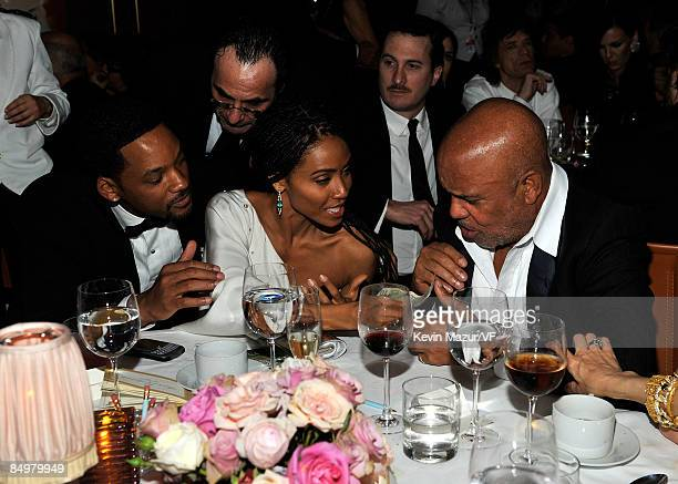 Actors Will Smith and Jada PinkettSmith attends the 2009 Vanity Fair Oscar party hosted by Graydon Carter at the Sunset Tower Hotel on February 22...