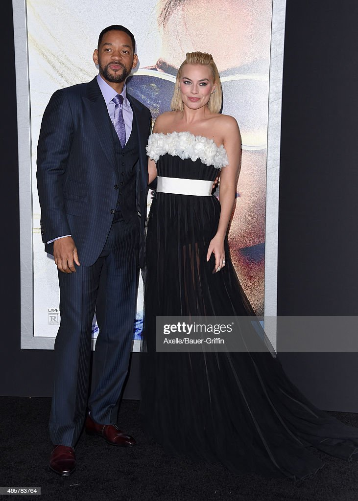 Actors Will Smith and Margot Robbie arrive at the Los Angeles World Premiere of Warner Bros. Pictures 'Focus' at TCL Chinese Theatre on February 24, 2015 in Hollywood, California.