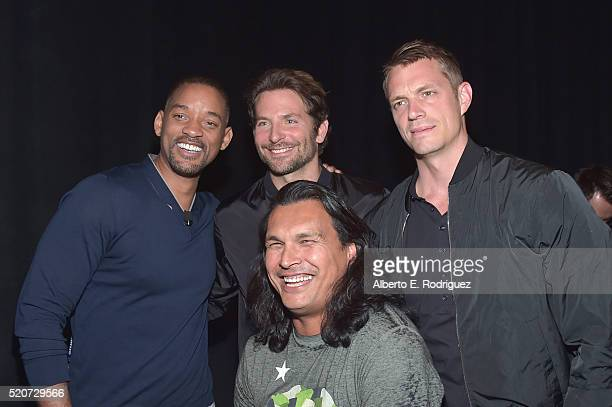 "Actors Will Smith Bradley Cooper Adam Beach and Joel Kinnaman attend CinemaCon 2016 Warner Bros Pictures Invites You to ""The Big Picture"" an..."