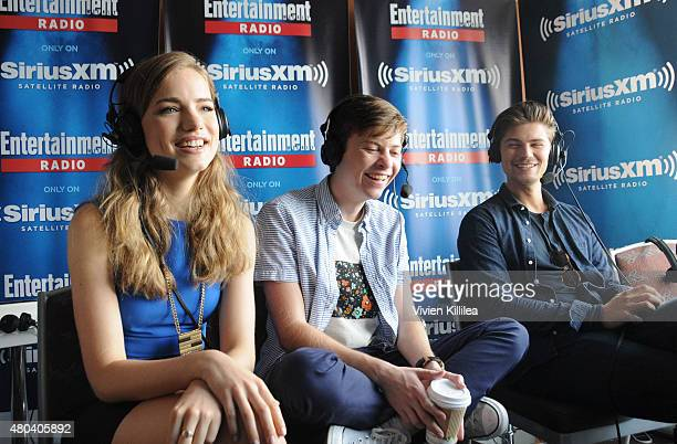 Actors Willa Fitzgerald John Karna and Amadeus Serafini attend SiriusXM's Entertainment Weekly Radio Channel Broadcasts From ComicCon 2015 at Hard...