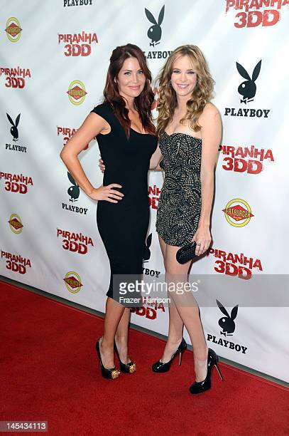 Actors Willa Ford and Danielle Panabaker arrive at the Premiere of Dimension Films' Piranha 3DD at The Mann Chinese 6 on May 29 2012 in Los Angeles...