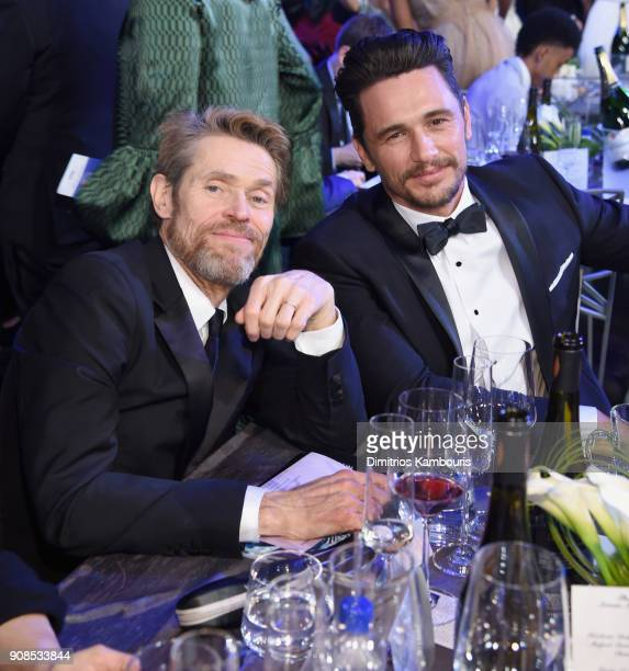 Actors Willem Dafoe and James Franco attend the 24th Annual Screen Actors Guild Awards at The Shrine Auditorium on January 21 2018 in Los Angeles...
