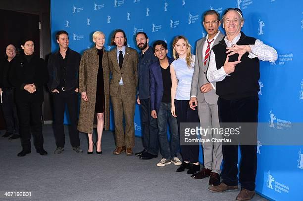 Actors Willem Dafoe Edward Norton Tilda Swinton director Wes Anderson and actors Ralph Fiennes Tony Revolori Saoirse Ronan Jeff Goldblum and Bill...