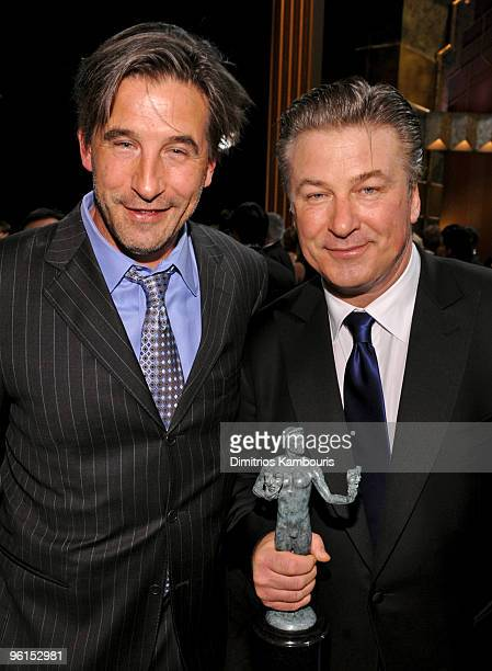Actors William Baldwin and brother Alec Baldwin attend the TNT/TBS broadcast of the 16th Annual Screen Actors Guild Awards at the Shrine Auditorium...