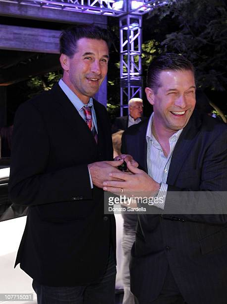 Actors William Baldwin and Stephen Baldwin attend the US Launch Event for New Lotus Cars at a private residence on November 12 2010 in Los Angeles...
