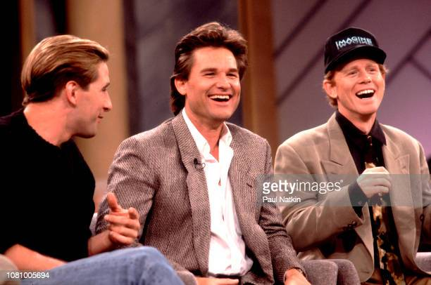 Actors William Baldwin, left, Kurt Russell, center, and Ron Howard appear on the Oprah Winfrey Show to promote the movie Backdraft, Chicago,...