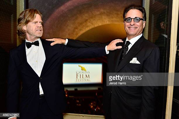 Actors William H Macy and Andy Garcia attend the 2014 Catalina Film Festival Awards Ceremony at the Avalon Theater on September 27 2014 in Catalina...