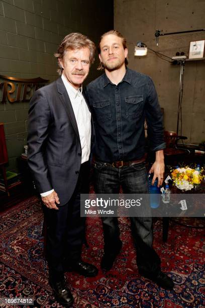 Actors William H. Macy and Charlie Hunnam attend the Variety Emmy Studio at Palihouse on May 30, 2013 in West Hollywood, California.