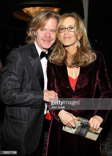 Actors William H Macy and Felicity Huffman attend the 2011 UNICEF Ball presented by Baccarat held at the Beverly Wilshire Hotel on December 8 2011 in...
