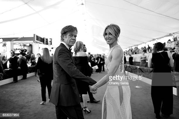 Actors William H Macy and Felicity Huffman attend The 23rd Annual Screen Actors Guild Awards at The Shrine Auditorium on January 29 2017 in Los...