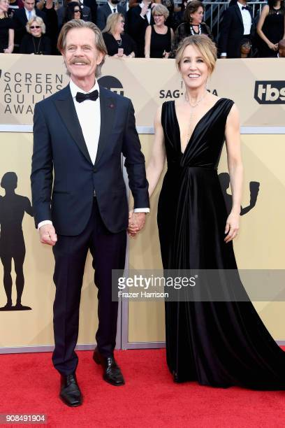 Actors William H Macy and Felicity Huffman attend the 24th Annual Screen Actors Guild Awards at The Shrine Auditorium on January 21 2018 in Los...