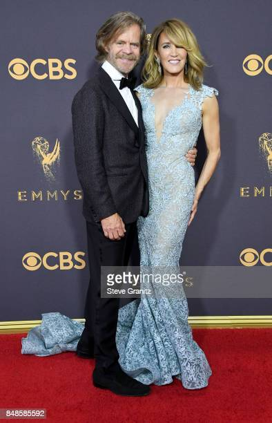 Actors William H Macy and Felicity Huffman attend the 69th Annual Primetime Emmy Awards at Microsoft Theater on September 17 2017 in Los Angeles...