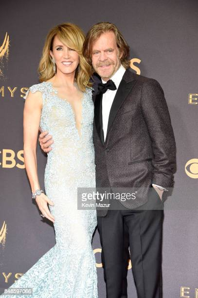 Actors William H Macy and Felicity Huffman attends the 69th Annual Primetime Emmy Awards at Microsoft Theater on September 17 2017 in Los Angeles...