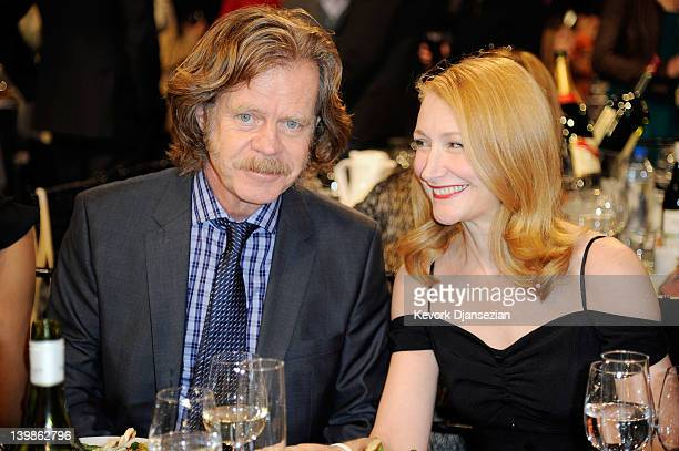 Actors William H Macy and Patricia Clarkson attend the 2012 Film Independent Spirit Awards Cocktail Party held at the Santa Monica Pier on February...