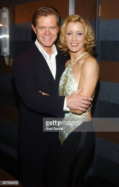 Actors William H Macy and wife Felicity Huffman arrive at The Atlantic Theater Company's 2005 Spring Gala at the Rainbow Room on May 2 2005 in New...