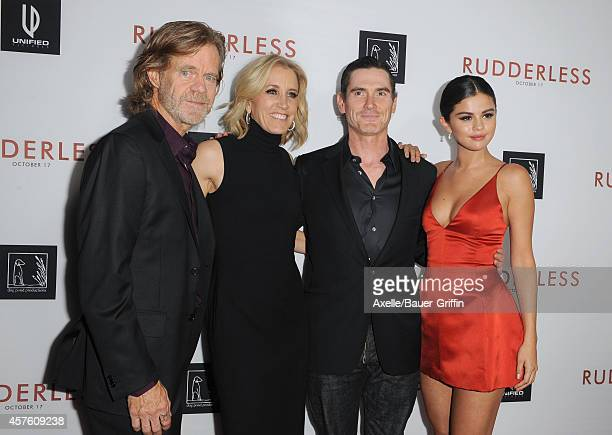 Actors William H Macy Felicity Huffman Billy Crudup and Selena Gomez arrive at the Los Angeles VIP Screening of 'Rudderless' at the Vista Theatre on...